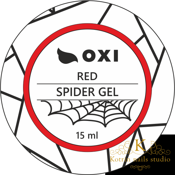 "Raudonas gelis dailei OXI ""SPIDER RED GEL"", 15ml"