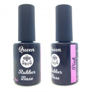 "Maskuojantis gelinio lakavimo pagrindas Bee Professional ""Queen Bee Rubber Base Pink"", 15ml"